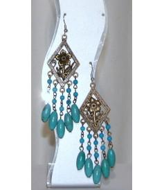 Boucles d'Oreilles en Turquoise.