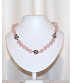 Collier en Quartz Rose.