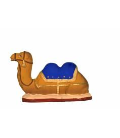 Chameau couché bleu