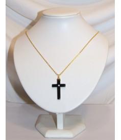 Croix en Hématite avec strass