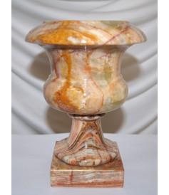 Vases (h 19,5) en Onyx en provenance du Pakistan