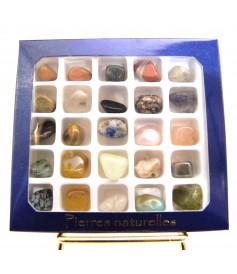 Boites de Collections 25 Minéraux Polis